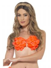 Lei Flower Bra in Orange